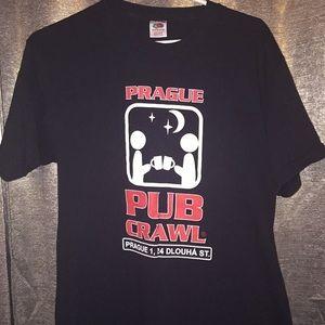 Prague Pub Crawl t-shirt Vintage